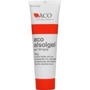 Behandla insektsbett - ACO Alsolgel, gel 10 mg/g 30 ml